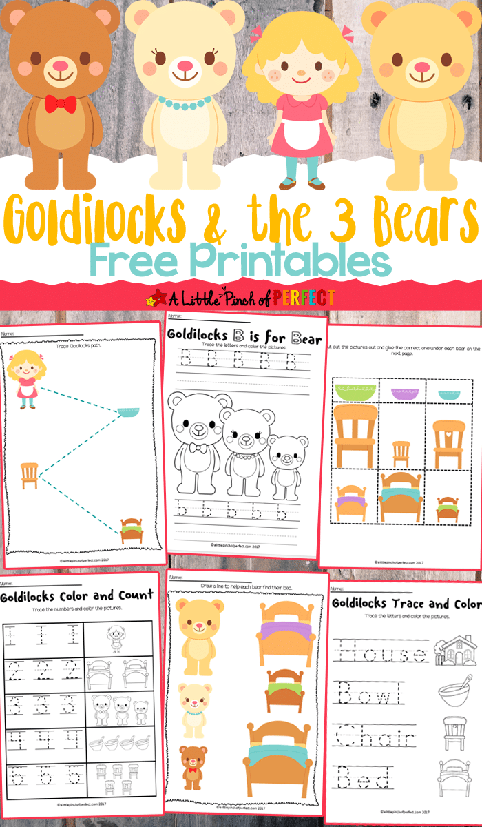 free goldilocks  u0026 the three bears printables