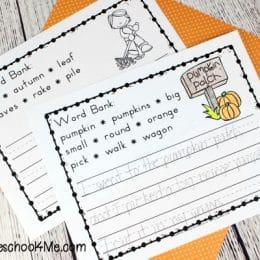 Free Autumn Writing Prompts with Word Banks