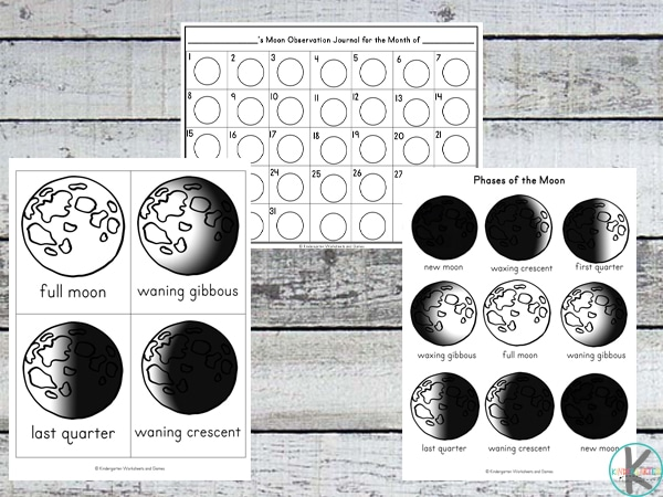 Free Moon Phases Activity Pack