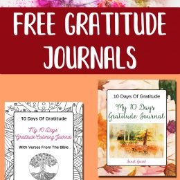 Free Gratitude Journals – Two Choices!