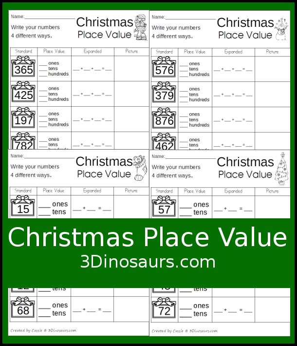 Free Christmas Place Value Worksheets – Free Place Value Worksheets