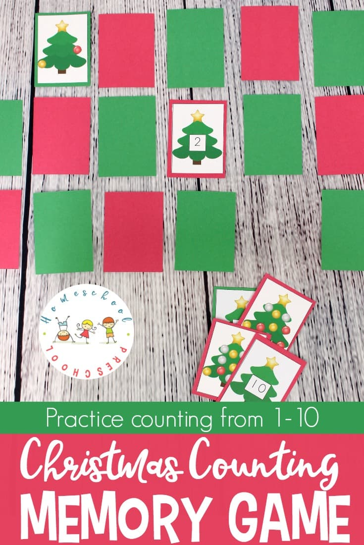 Free Christmas Number Memory Game
