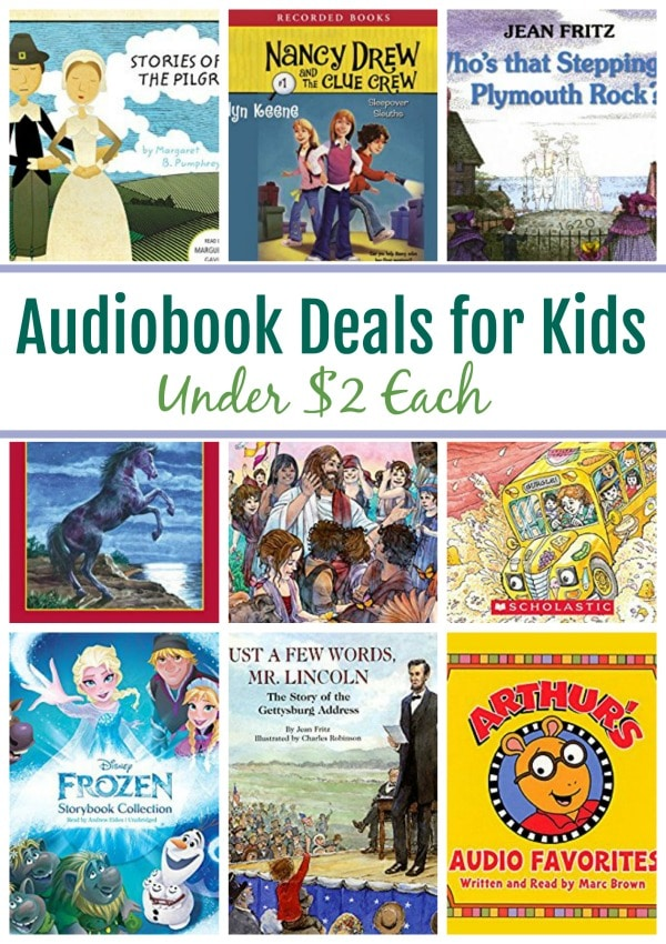 13 Audiobook for Kids Under $2: Stories of the Pilgrims, Nancy Drew, Magic School Bus & More!