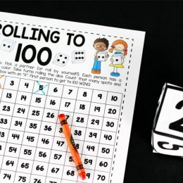 Free Rolling to 100 Math Game