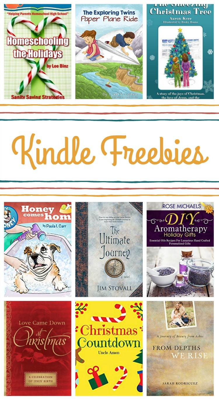 16 Kindle Freebies: Homeschooling the Holidays, The Ultimate Journey, & More