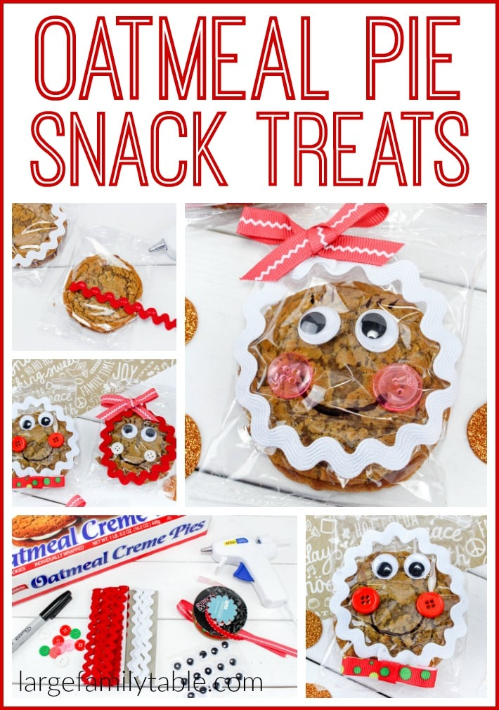 Gingerbread Snack Treats Made from Oatmeal Cream Pies