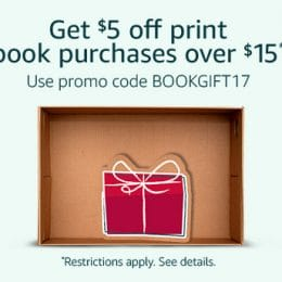 $5 Off a $15 Book Purchase at Amazon – Back Again!