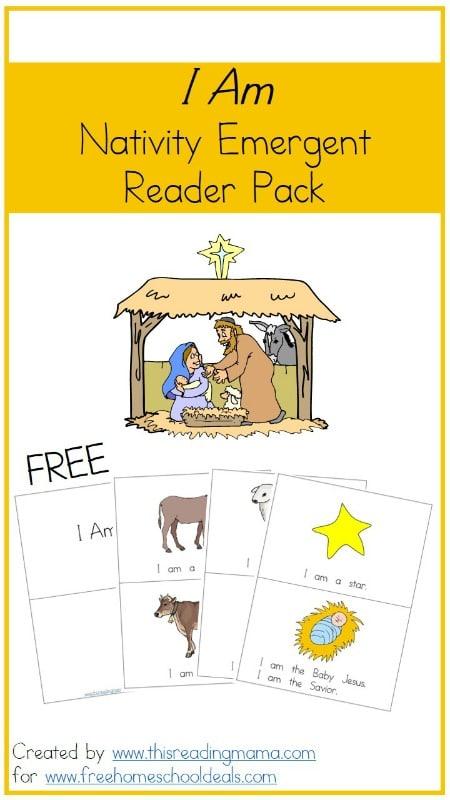 Free Nativity Emergent Reader Pack
