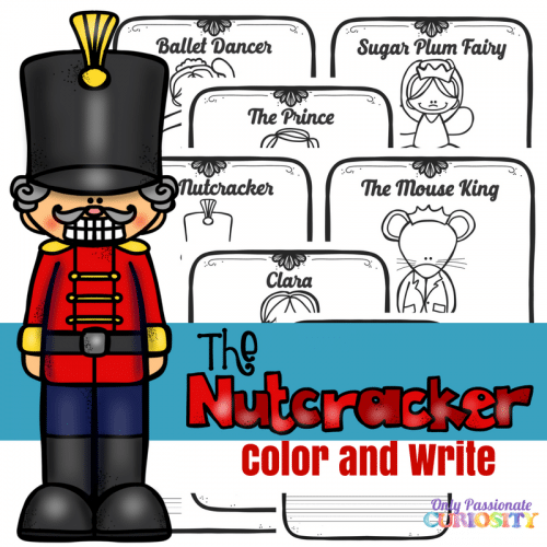 Free Nutcracker Color & Write Printables