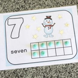 Free Winter Play Dough Counting Mats