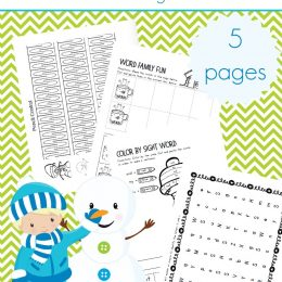 FREE WINTER FUN EARLY LEARNING PACK (Instant Download)