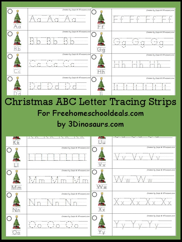 Free christmas abc tracing strips free homeschool deals free christmas abc tracing strips altavistaventures Image collections