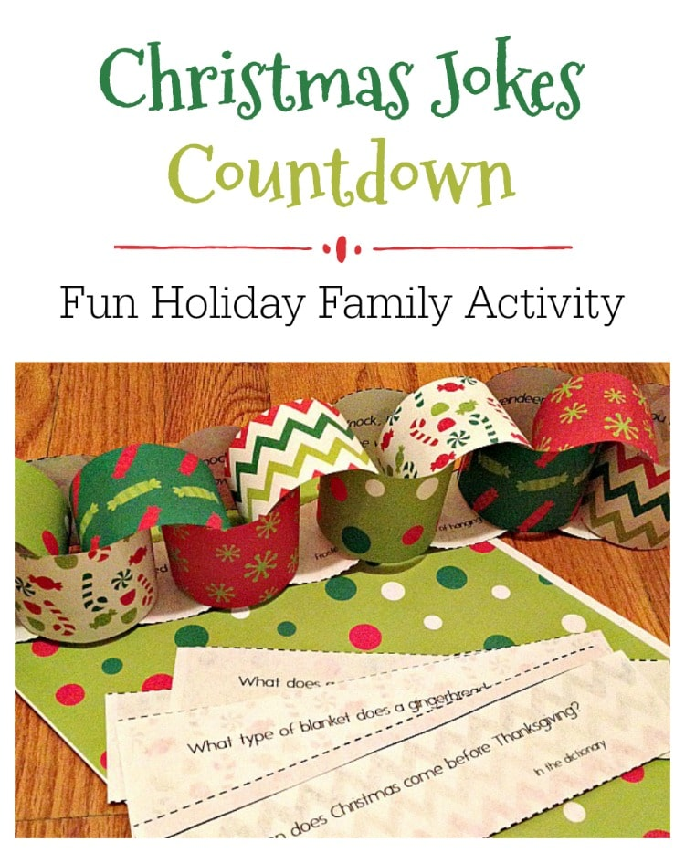 Free Christmas Joke Countdown Printables