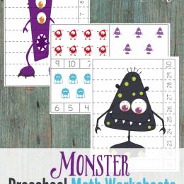 Free Monster Preschool Math Worksheets