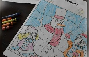 FREE WINTER COLOR BY LETTER WORKSHEETS (Instant Download)