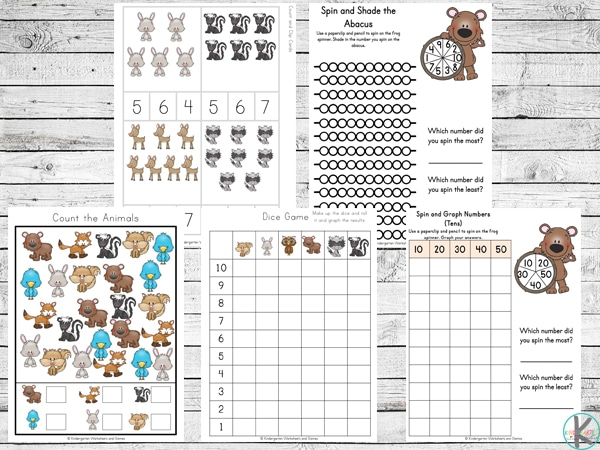 Free Forest Animals Learning Pack