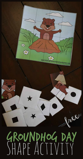 Free Groundhog Day Shapes Activity