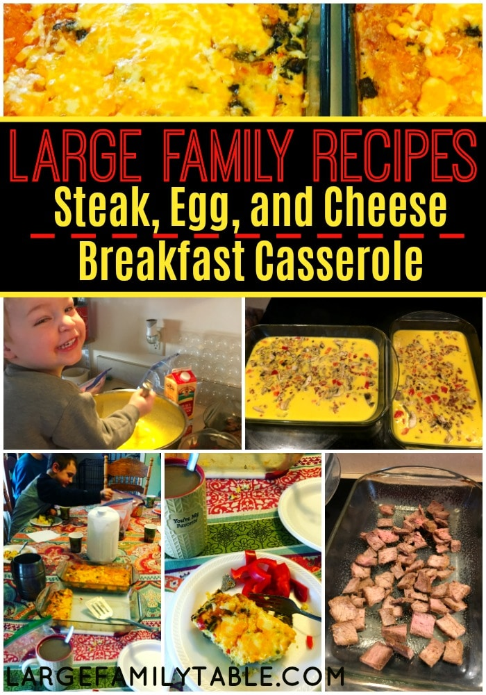 Steak, Egg, and Cheese Breakfast Casserole