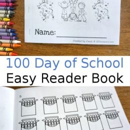 Free 100 Days of School Easy Reader Book