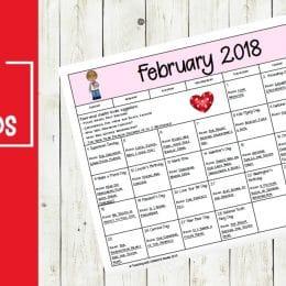 Free February Read Aloud Calendar