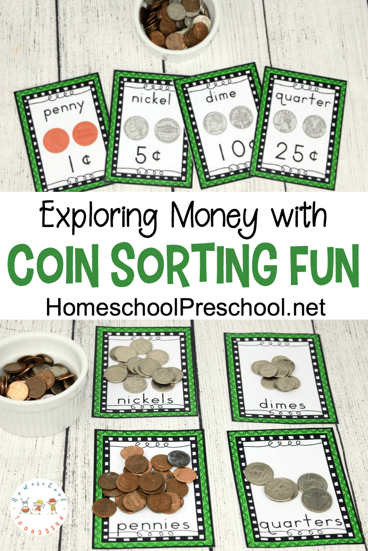 Free U.S. Coin Sorting Worksheets