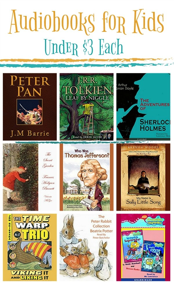 15 Audiobooks for Kids Under $3: Peter Pan, Sherlock Holmes, & More!