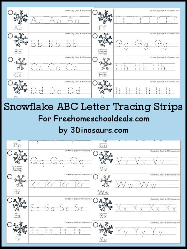 Free snowflake abc letter tracing strips instant download free free snowflake abc letter tracing strips instant download altavistaventures Image collections