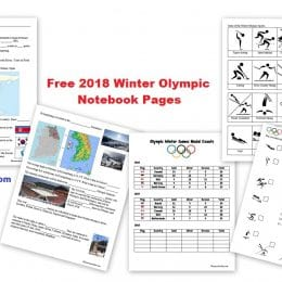 Free 2018 Winter Olympics Notebooking Pages