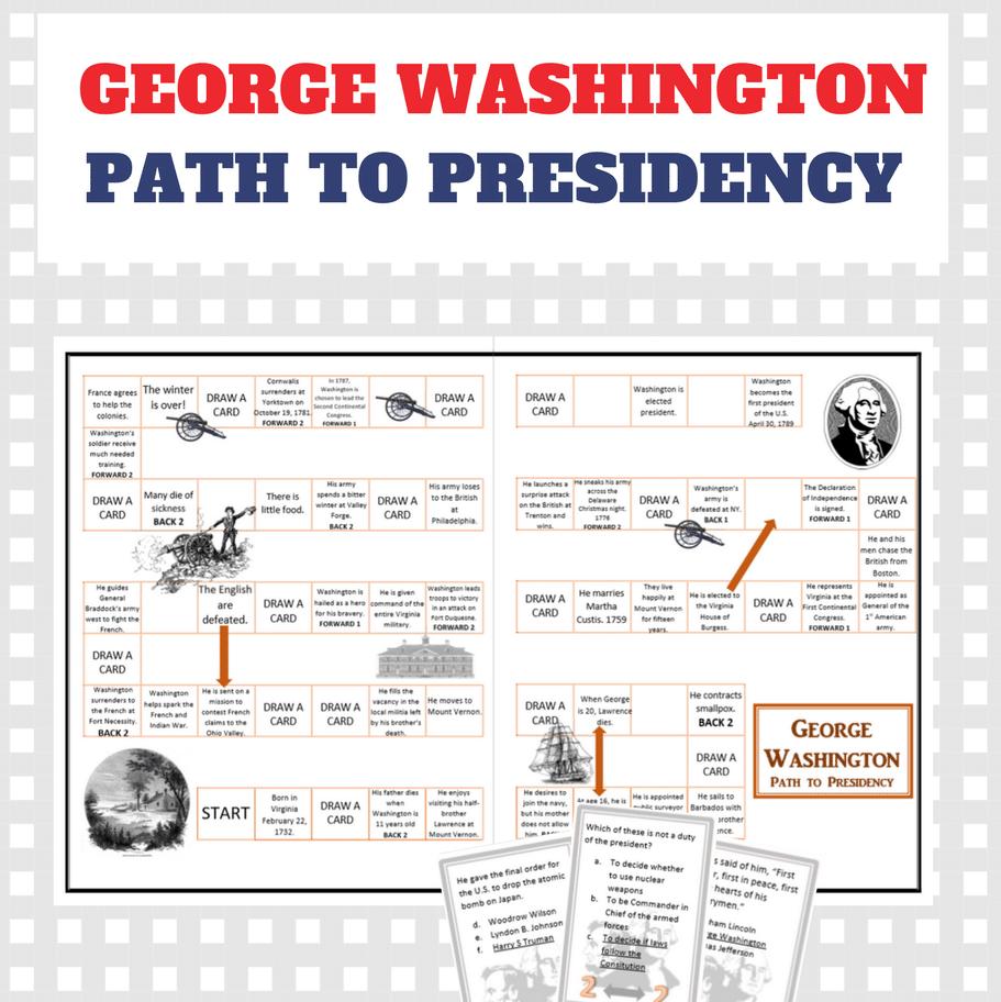 Free George Washington File Folder Game