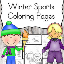 Free Winter Sports Educational Coloring Pages