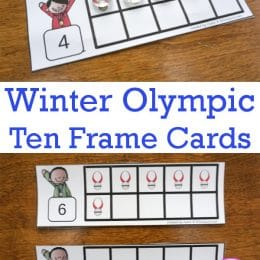 Free Olympic Ten Frame Cards