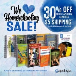 We Love Homeschooling Sale at Apologia – 30% Off Select Resources!