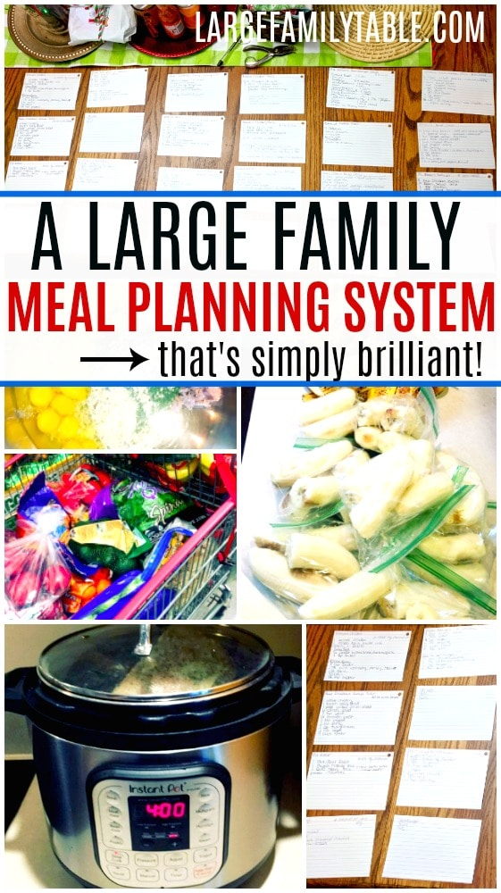 A Large Family Meal Planning System That's Simply Brilliant