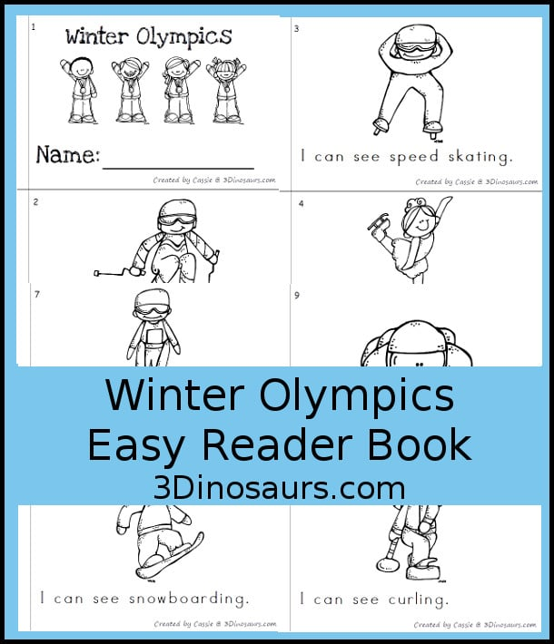 Free Winter Olympics Easy Reader Book