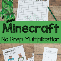Free Minecraft Multiplication Worksheets