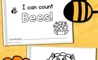 FREE I CAN COUNT BEES MINI-BOOK (Instant Download)