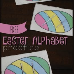 FREE EASTER ALPHABET LETTER PRACTICE (Instant Download)