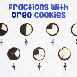 Free Oreo Fraction Mats
