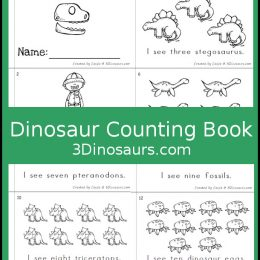 Free Dinosaur Counting Book
