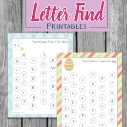 Free Easter Letter Find Worksheets