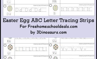 FREE EASTER EGG ABC TRACING STRIPS (Instant Download)