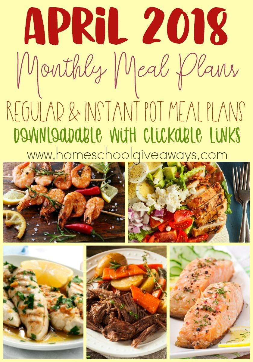 Free April Meal Plan