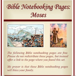 {Free} A Bible Notebooking Pages Set – Old Testament: Moses