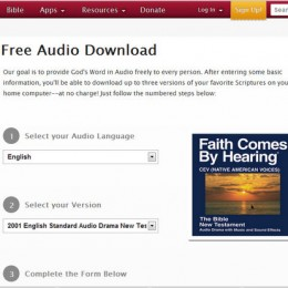 Faith Comes By Hearing: Free Audio Bible for your Family