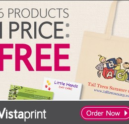 Vistaprint Limited Time 6 FREE Products (Great Mother's Day Gifts) *You ONLY Pay Shipping*
