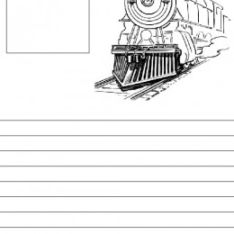 Free Train Notebook Pages