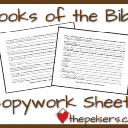 FREE Copywork for the Old & New Testament (Facebook Offer)