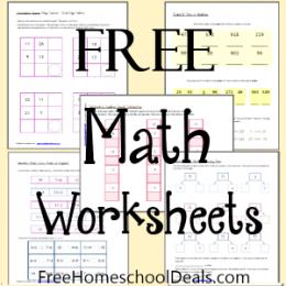 Free Math Worksheets 1st-2nd Grade