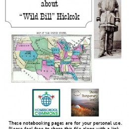 (Free) Wild Bill Hickok Resources & Notebooking Pages