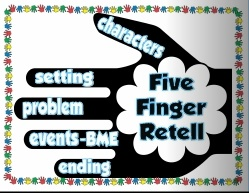 5 Finger Retell Freebie! (Narration Poster)
